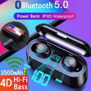 XF9 светодиодный дисплей питания Bluetooth гарнитура сенсорный контроль Bluetooth гарнитура с зарядкой Box