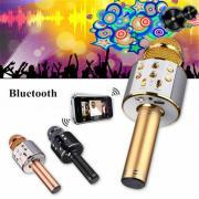 KTV-WS858 Беспроводной караоке Микрофон USB Player Bluetooth Mic Динамик Подарок EN