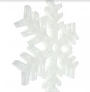 Акриловая светодиодная новогодняя фигура Снежинка (Белый)