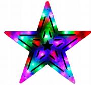 Акриловая светодиодная новогодняя фигура Звезда (Белый)
