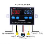 Двойной термостат для инкубатора 10A Прямой выход цифровой термостат Температура контроллер