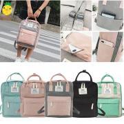 Женский текстильный рюкзак с наружным карманом для города и путешествий. Различные варианты цвета