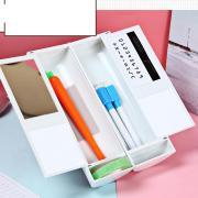 Многофункциональный карандаш Случае с солнечным калькулятором Магнитный переключатель Перо Зеркало Прозрачный клей