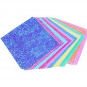 Одноцветная сияющая бумага для оригами и скрапбукинга