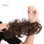 NO.PS волос Бун расширение волнистый Curly Messy Парик Свадебный невеста Эластичные аксессуары для волос