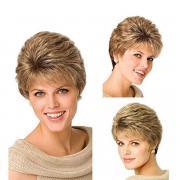 Мода дамы синтетических пушистые слегка вьющимися волнистые Женские парики короткие волосы парик