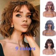 12дюймовая длинная волна челки Браун 8 Цвета Доступные парики для женщин Синтетические волосы Высокая температура волокна