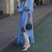 Celmia Летняя осень Мода женщины Рубашка Платье V-образный вырез Длинные рукава Нерегулярные Подол Длинное платье vestidos
