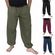 INCERUN хлопок мужчины свободные широкие брюки ноги длинные брюки хип-хоп Джоггеры гарем брюки