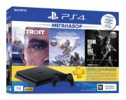 Игровая приставка PlayStation 4 1TB HZD+Detroit+TLoUS +PS+3 мес. (CUH-2208B)