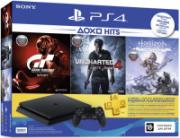 Игровая приставка Sony PlayStation 4 500GB + Gran Turismo Sport + Uncharted 4: Путь вора + Horizon Zero Dawn + PS Plus на 3 месяца (CUH-2208A)