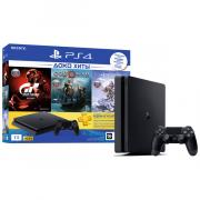 Игровая приставка SONY PlayStation 4 1Tb Horizon Zero Dawn + GTS + God Of War + PS Plus 3 месяца