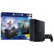 Игровая консоль PlayStation Sony 4 Pro 1TB Black+Horizon Zero Dawn/God Of War (CUH-7208B)