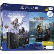 Игровая Приставка PlayStation 4 (CUH-7208B) PRO (1TB) + Horizon Zero Dawn + God Of War