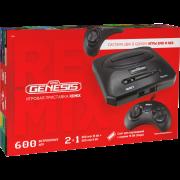 Игровая приставка Retro Genesis Remix [8 bit /16 bit] + 600 игр (AV кабель, 2 проводных джойстика)
