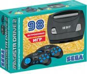 Игровая приставка 16 bit Sega Magistr Drive 2 Little (98 в 1) + 98 встроенных игр + 2 геймпада (Черная)