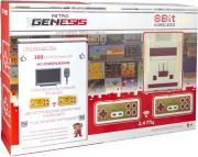 Игровая приставка 8 bit Retro Genesis HD Wireless (300 в 1) + 300 встроенных игр + 2 беспроводных геймпада + HDMI кабель (Серая)