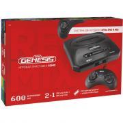 Игровая приставка Retro Genesis Remix 8+16Bit Classic + 600 игр (AV кабель, 2 проводных джойстика)