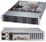 "Корпус серверный 2U Supermicro CSE-826BE16-R920LPB 12x3.5"" HS Bays, iPass, DVD-opt, 13""x13.68"" EE-ATX, eATX, 7x LP, 2x920W Platinum, rail)"