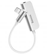 Адаптер Baseus L50S Audio Converter Lightning Male to 3.5mm на Lightning CALL50S-02 (Белый)