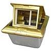 Люк встраиваемый на 1,5 поста (45х45) с коробкой, 120х120х55 мм, латунь LUK/1,5BR44, IP44 - 70023