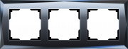 Werkel WL08-Frame-03/Рамка на 3 поста (черный)