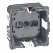 Розетка электрическая механизм 2К+З безвинтовой зажим со шторками Legrand Celiane Легранд Селиан 67153
