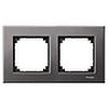 Рамка двойная Серый родий, Merten M-Elegance - SCMTN403214