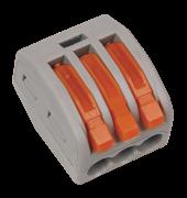 Клемма WAGO 3x0.08-2.5(4)мм 222-413
