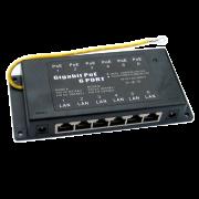 MaxLink Gigabit POE Injector, UTP, Cat.6, 6 ports, гигабитный пассивный PoE-инжектор
