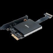 Переходник-конвертер Akasa AK-PCCM2P-04 с радиатором RGB LED для 2xM.2 NGFF M-Type SSD в PCIe 3.0 x4