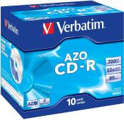 Диск CD-R Verbatim 700Mb 52x DataLife+ Jewel Case (10шт) (43327)
