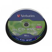Диск CD-RW Verbatim 700 Mb, 12x, Cake Box (10), (10/200)
