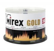 CD-диск Mirex 700 Mb, UL120054A8B, Gold, Cake Box (50 шт)