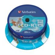 CD-R Verbatim 25шт printable cake 43439