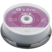 Диск INTRO CD-R 700Mb, 52x Cakebox 25
