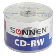 Компакт диски CD-RW Sonnen объемом 700Mb, скорость 4-12x, комплект/набор из 50 шт