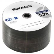"Диски CD-R ""Sonnen"", 700 Mb, 52x, Bulk 50 штук"