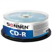 "Диски CD-R ""Sonnen"", 700 Mb, 52x, Cake Box 50 штук"