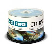 CD-диск Mirex CD-RW 700 Mb Cake Box (50)