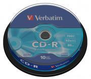 Диск VERBATIM CD-R 700 Мб DL 52х Cake Box