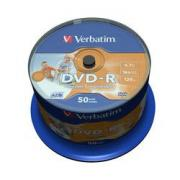 Диск DVD-R Verbatim 4.7Gb 16x Cake Box InkJet Printable (50 шт) (43533) - CD, BD диск
