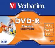 Диск VERBATIM DVD-R 4.7 Гб 16х Photo Printable