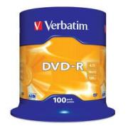 Диск DVD-R Verbatim 4.7Gb 16x Cake Box (100 шт) (43549) - CD, BD диск
