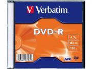 Оптический диск Verbatim DVD-R 4.7 Gb, Slim Case (100шт)