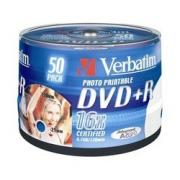 Диск DVD+R Verbatim 4.7Gb 16x Cake Box InkJet Printable (50шт) (43512) - CD, BD диск