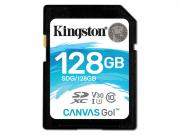 Карта памяти 128GB - Kingston SDHC Canvas Go 90R/45W CL10 U3 V30 SDG/128GB