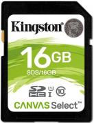 Карта памяти 16GB Kingston SDS/16GB Canvas Select 80R CL10 UHS-I