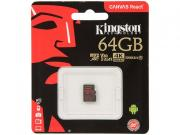 Карта памяти 64ГБ Kingston SDCR/64GBSP microSDXC UHS-I