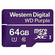 Micro SecureDigital 64Gb Western Digital Purple SDHC class 10 UHS-I (WDD064G1P0A)
